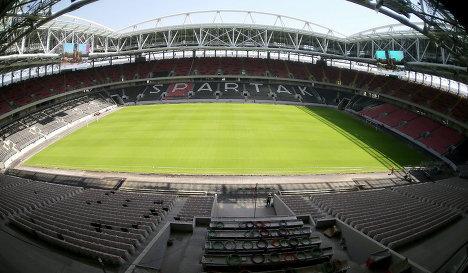 Строящийся стадион московского Спартака
