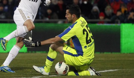 Игровой момент матча Реал-Хетафе в чемпионате Испании