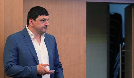 Генеральный директор ФК Таврия Александр Бойцан во время внеочередной конференции РФС