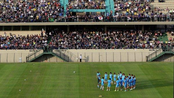 Тренировка футболистов сборной Японии в бразильском городе Иту, Сорокаба, штат Сан-Паулу