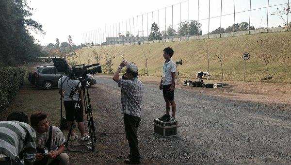 Японские журналисты в бразильском городе Иту