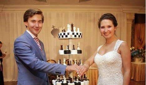 Сергей Карякин с женой