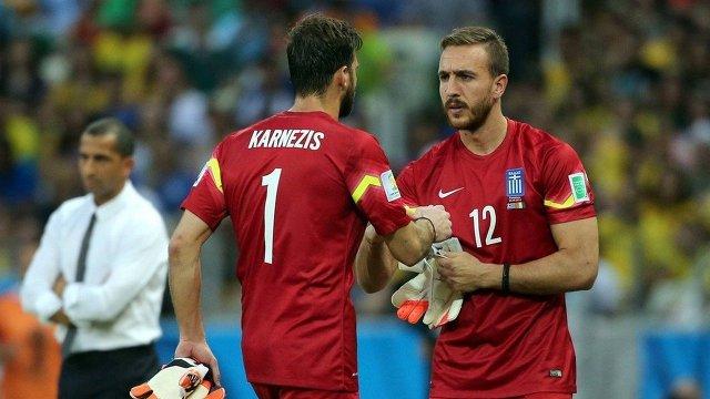 Панайотис Гликос (справа) и Орестис Карнезис
