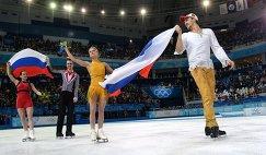 Ксения Столбова и Федор Климов, Татьяна Волосожар и Максим Траньков (слева направо)