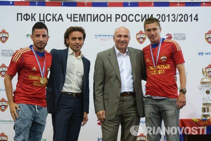 Зоран Тошич, Роман Бабаев, Сергей Чебан и Кирилл Набабкин (слева направо)