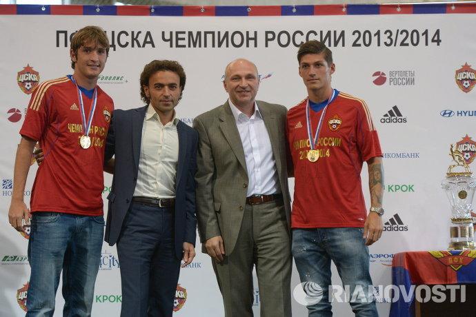 Марио Фернандес, Роман Бабаев, Сергей Чебан и Стивен Цубер (слева направо)