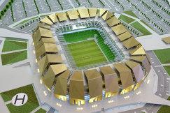 Макет нового стадиона ФК Кубань в Краснодаре