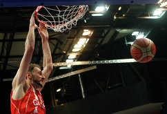 форвард сборной Грузии по баскетболу Виктором Саникидзе