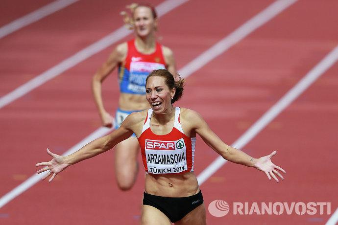 Белорусская бегунья Марина Арзамасова