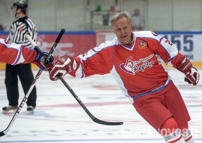 Вячеслав Фетисов на благотворительной хоккейной акции От Чистого Сердца