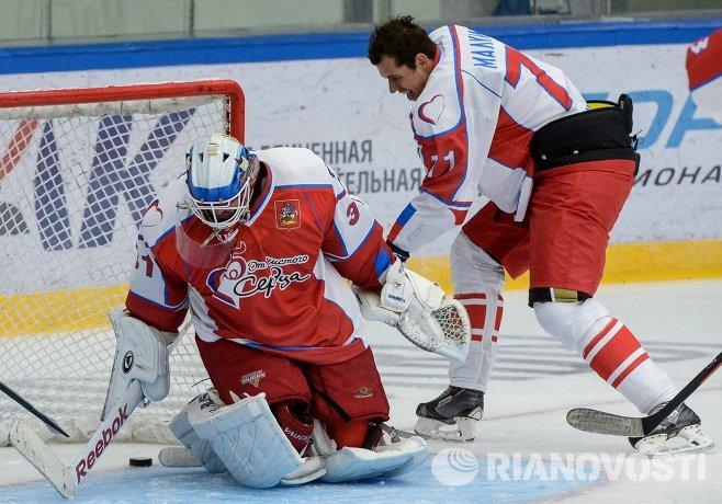 Евгений Малкин на благотворительной хоккейной акции От Чистого Сердца