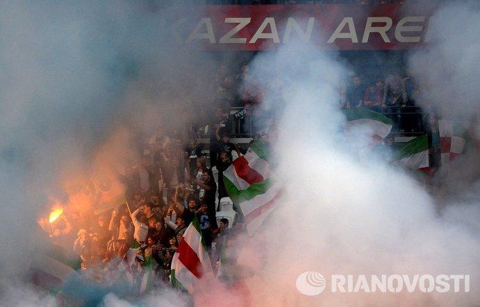 Болельщики Рубина во время матча 6-го тура чемпионата России.