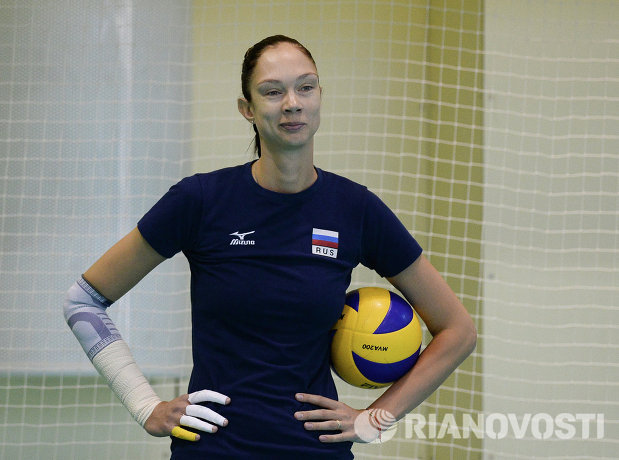 Диагональная сборной России Екатерина Гамова