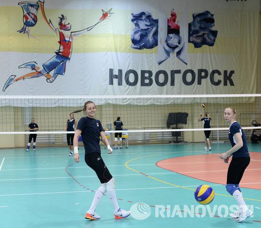 Волейболистки сборной России Александра Пасынкова и Анна Малова