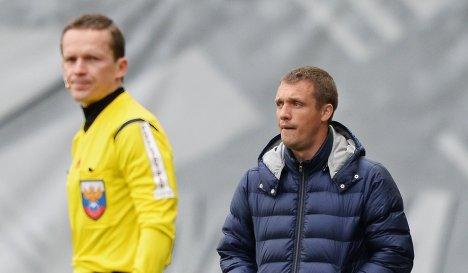 Главный тренер Кубани Виктор Ганчаренко (справа).
