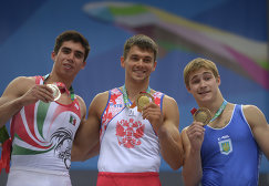Даниэль Коррал Баррон, Николай Куксенков, Олег Степко (слева направо)