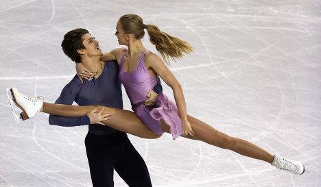 Инва Букин и Александра Степанова на турнире Skate America