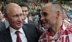 Владимир Путин и Эцио Гамба (слева направо)