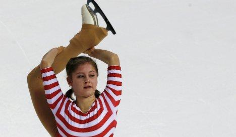 Юлия Липницкая во время короткой программы