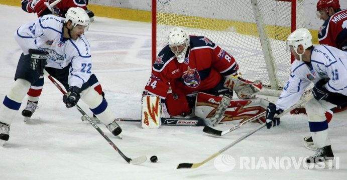 Игровой момент матча ЦСКА – Барыс