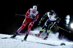 Слева направо: Ларс Хельге Биркеланн (Норвегия), Мартен Фуркад (Франция)