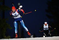Яна Романова (Россия) на дистанции спринта среди женщин первого этапа Кубка мира по биатлону
