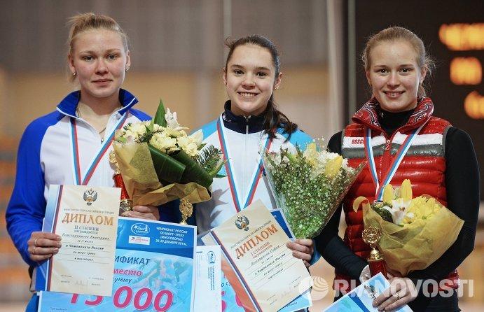 Екатерина Константинова, Софья Просвирнова, Евгения Захарова (слева направо)