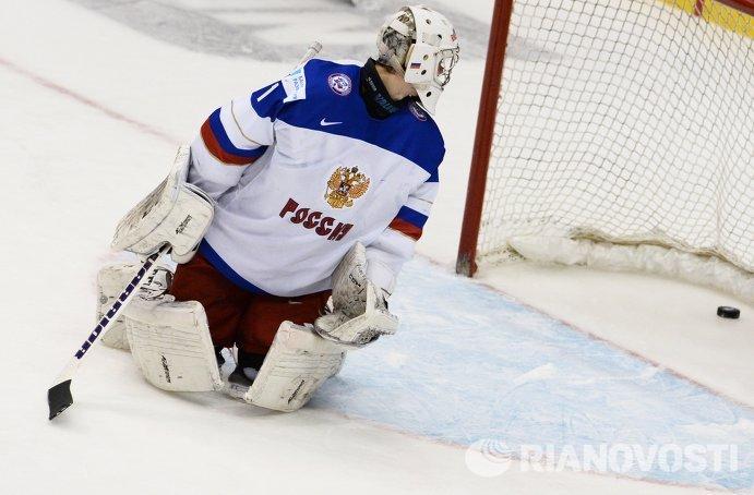 Вратарь молодежной сборной России Илья Сорокин