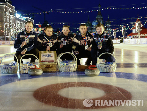 Российская команда скипа Александра Крушельницкого