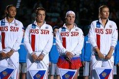 Российские теннисистки Виталия Дьяченко, Анастасия Павлюченкова, Светлана Кузнецова и Мария Шарапова (слева направо)