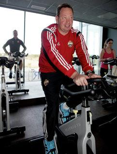 Главный тренер ЦСКА Леонид Слуцкий во время тренировочного сбора в Испании