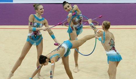 Групповой секс российских гимнасток