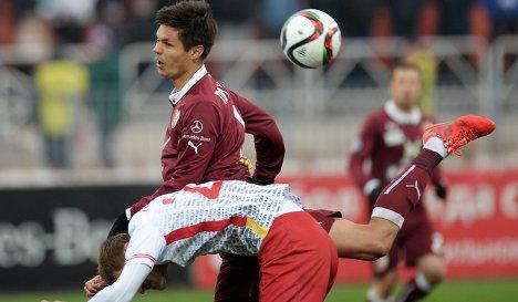 Игровой момент матча Рубин - Арсенал