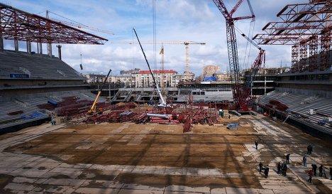 Строительство нового футбольного стадиона ЦСКА на 3-й Песчаной улице в Москве