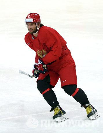 Форвард сборной России по хоккею Александр Овечкин
