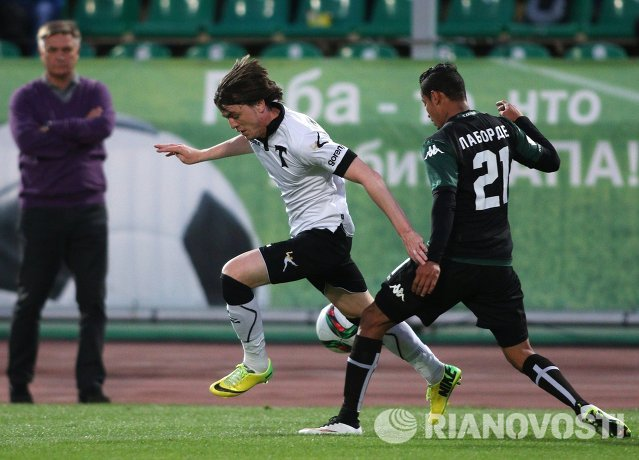 Игровой момент матча Краснодар - Торпедо