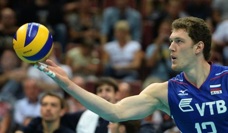 Блокирующий сборной России Дмитрий Мусэрский