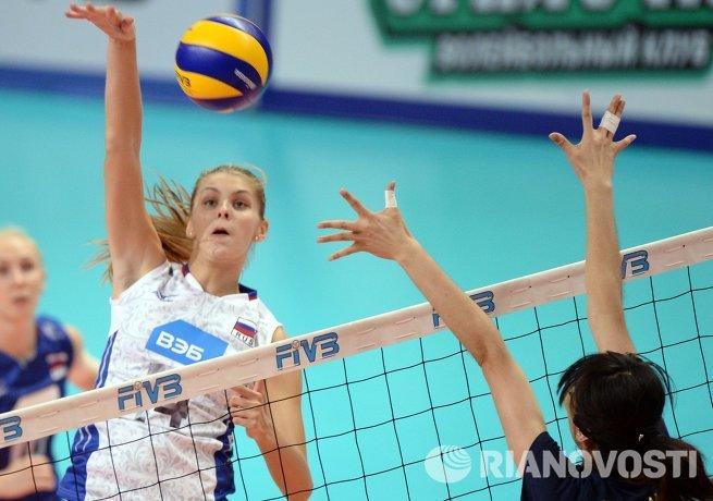 Блокирующая сборной России по волейболу Ирина Фетисова