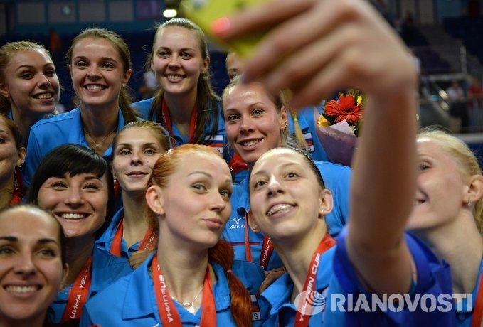 Игроки женской сборной России по волейболу