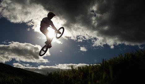 Участник соревнований по велоспорту-BMX