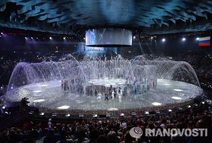 На церемонии открытия XVI чемпионата мира по водным видам спорта в Казани