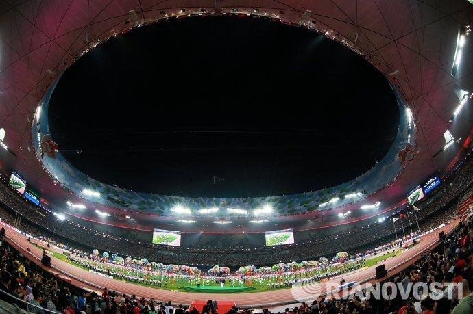 Церемония закрытия чемпионата мира 2015 по легкой атлетике в Пекине