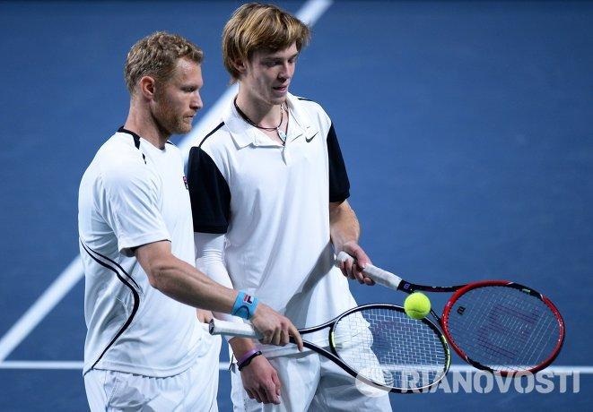 Дмитрий Турсунов (Россия) и Андрей Рублев (Россия) (слева направо)