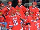 Хоккеисты сборной России в полуфинальном матче Лиги Легенд