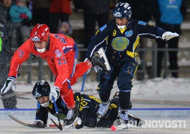 Хоккей с мячом. Чемпионат мира. Матч Казахстан - Россия