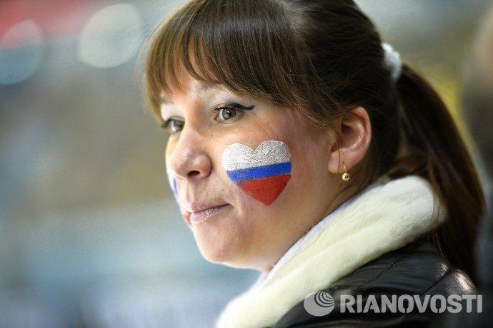 Российская болельщица