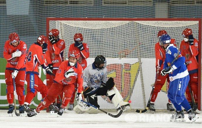 Хоккей с мячом. Чемпионат мира. Матч Россия - Финляндия