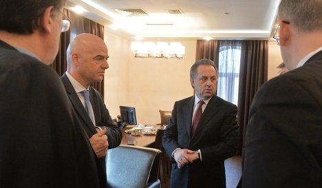 Джанни Инфантино (второй слева) и Виталий Мутко (второй справа)