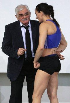 Елена Исинбаева и её тренер Евгений Трофимов