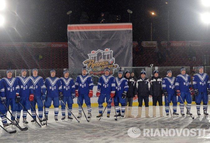 Игроки СКА МВО перед началом гала-матча